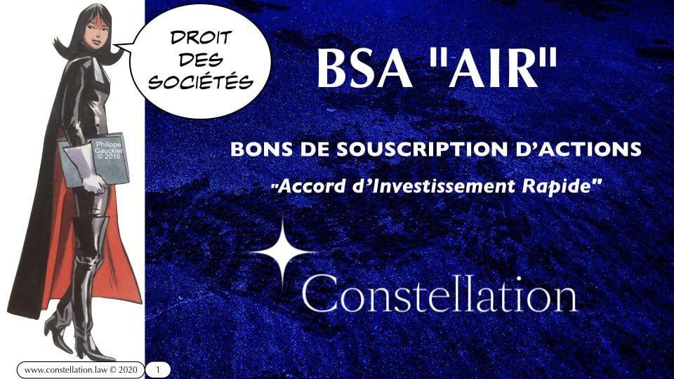 BSA Bon de souscription d'actions AIR Accord d'investissement rapide – Constellation.law