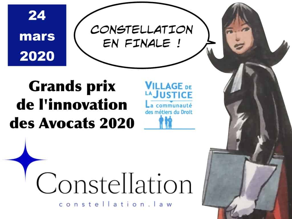 Grands prix de l'innovation des Avocats 2020 Constellation Avocats en finale !