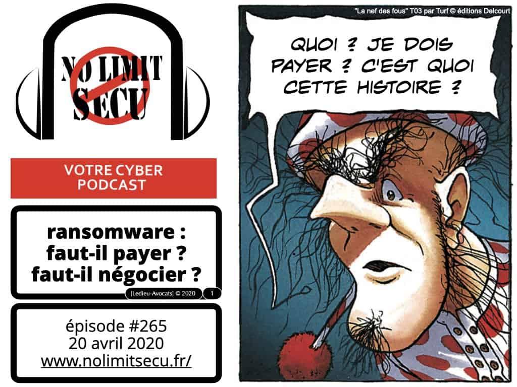 cyber-attaque-ransomware-rançongiciel : faut-il payer ? faut-il négocier ? [podcast No Limit Secu 20 avril 2020]