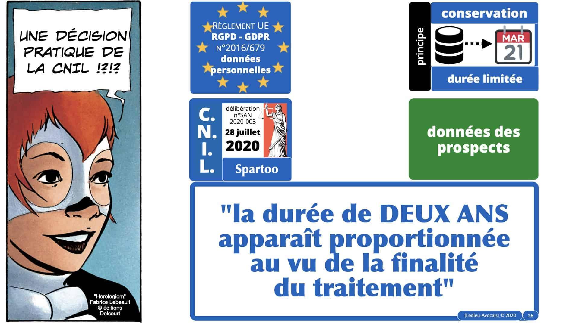 RGPD délibération CNIL Spartoo du 28 juillet 2020 n°SAN 2020-003 PRINCIPE