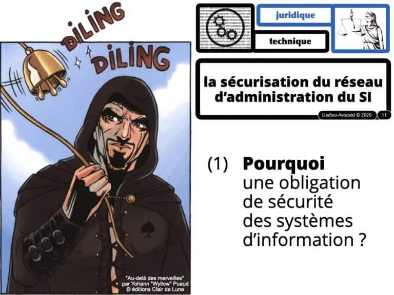 sécurité du réseau d'administration du système d'information