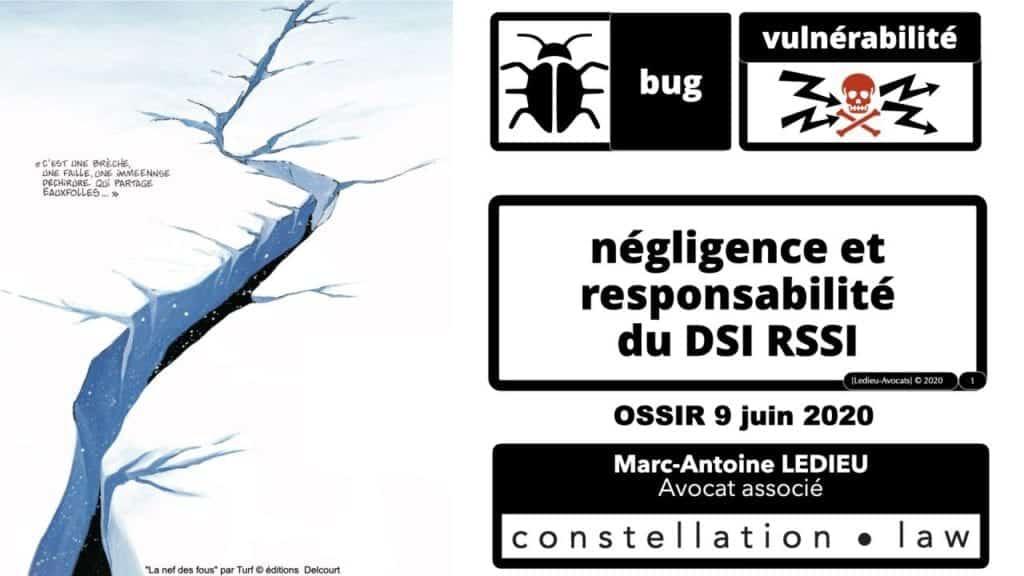 293-Vulnérabilité-bug-négligence-et-responsabilité-des-DSI-RSSI-conférence-OSSIR-169°-©-Ledieu-Avocats-09-06-2020.001-1280x720