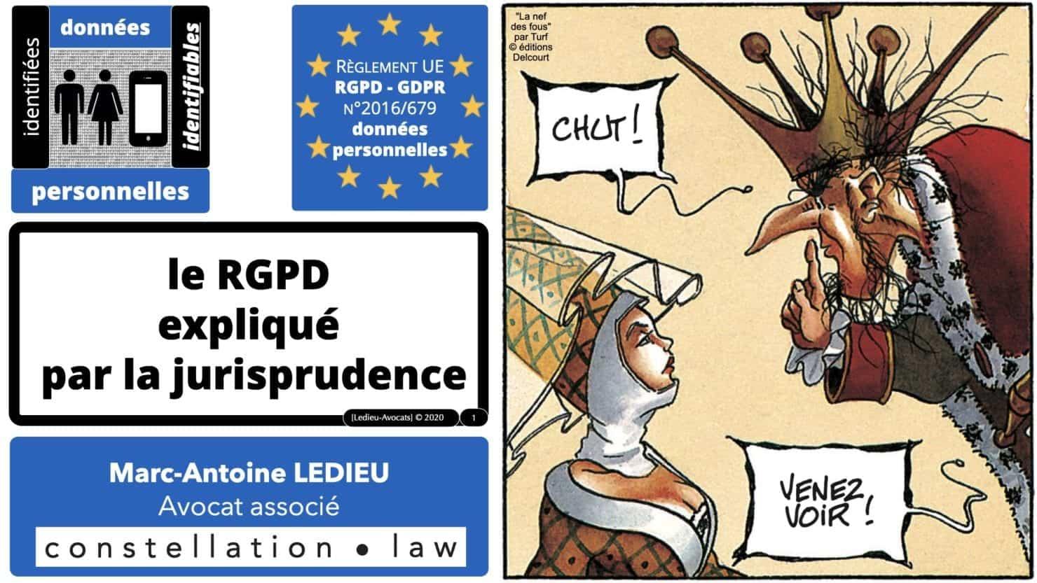 RGPD et jurisprudence 2011 à 2020