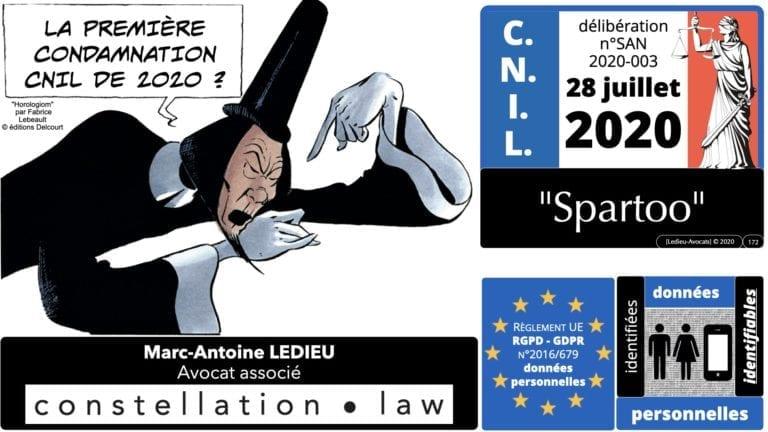 306 RGPD et jurisprudence e-Privacy données-personnelles 16:9 ©Ledieu-Avocats 05-10-2020 formation Les Echos Lamy Conference.172