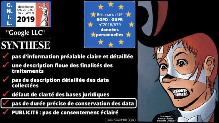 306 RGPD et jurisprudence e-Privacy données-personnelles 16:9 ©Ledieu-Avocats 05-10-2020 formation Les Echos Lamy Conference.178