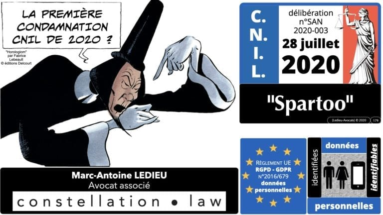 306 RGPD et jurisprudence e-Privacy données-personnelles 16:9 ©Ledieu-Avocats 05-10-2020 formation Les Echos Lamy Conference.179