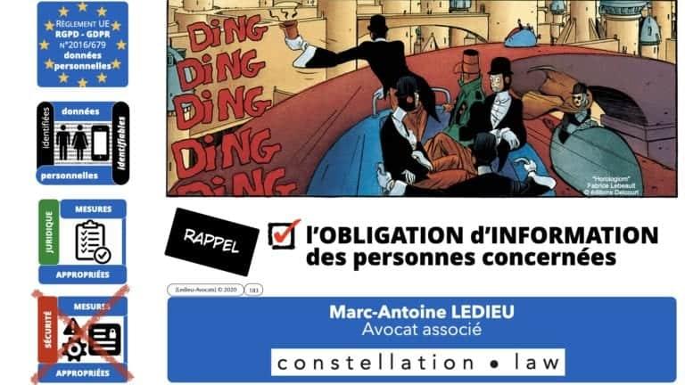 306 RGPD et jurisprudence e-Privacy données-personnelles 16:9 ©Ledieu-Avocats 05-10-2020 formation Les Echos Lamy Conference.183
