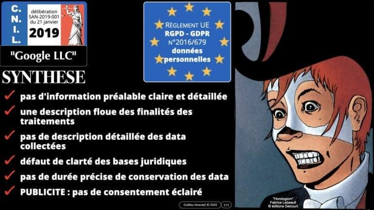 306 RGPD et jurisprudence e-Privacy données-personnelles 16:9 ©Ledieu-Avocats 05-10-2020 formation Les Echos Lamy Conference.213