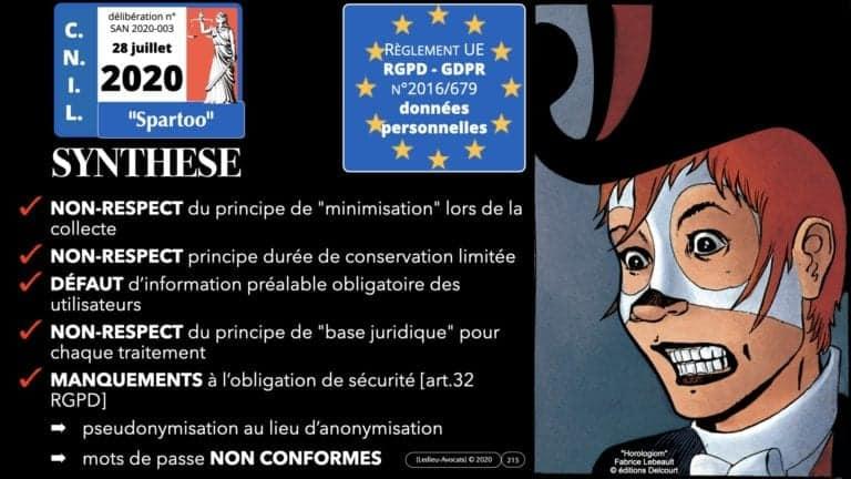 306 RGPD et jurisprudence e-Privacy données-personnelles 16:9 ©Ledieu-Avocats 05-10-2020 formation Les Echos Lamy Conference.215