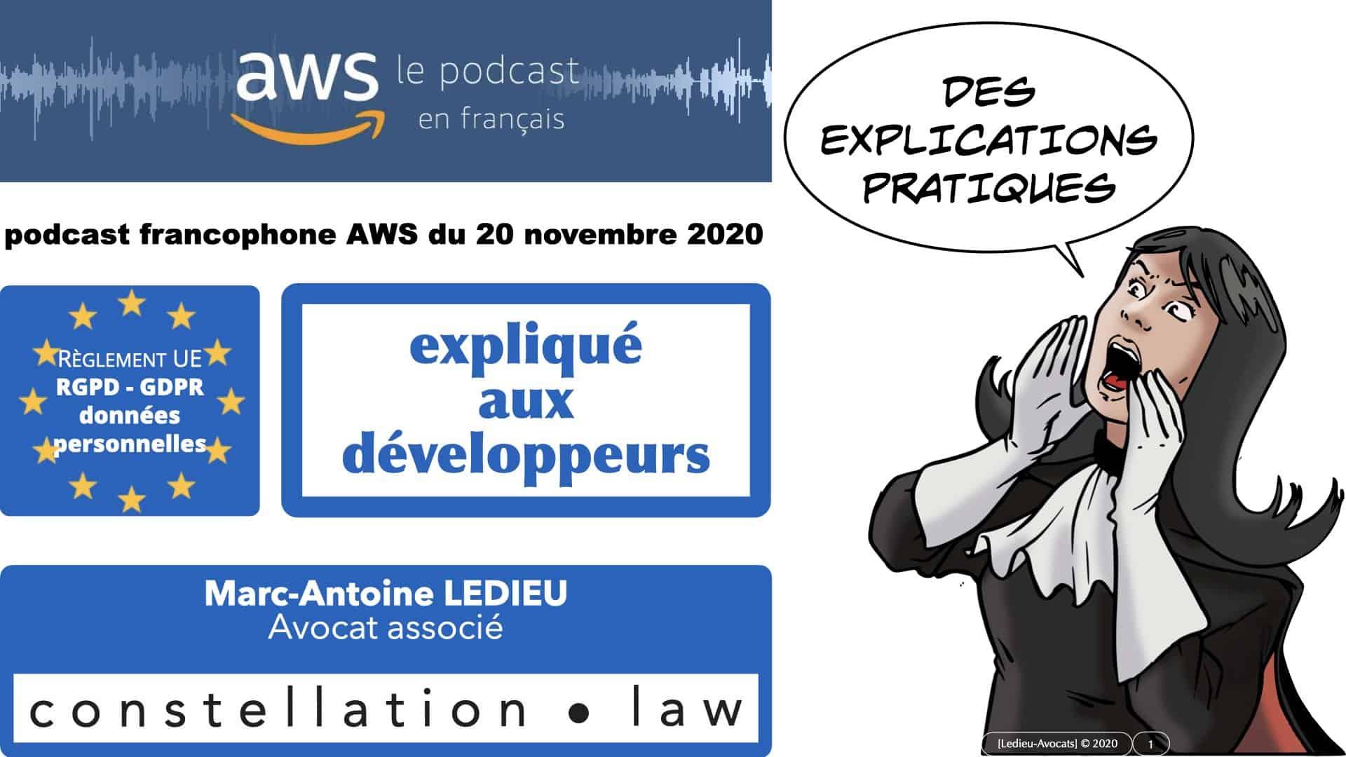 le RGPD expliqué aux pro du «dev» – podcast AWS 20 novembre 2020