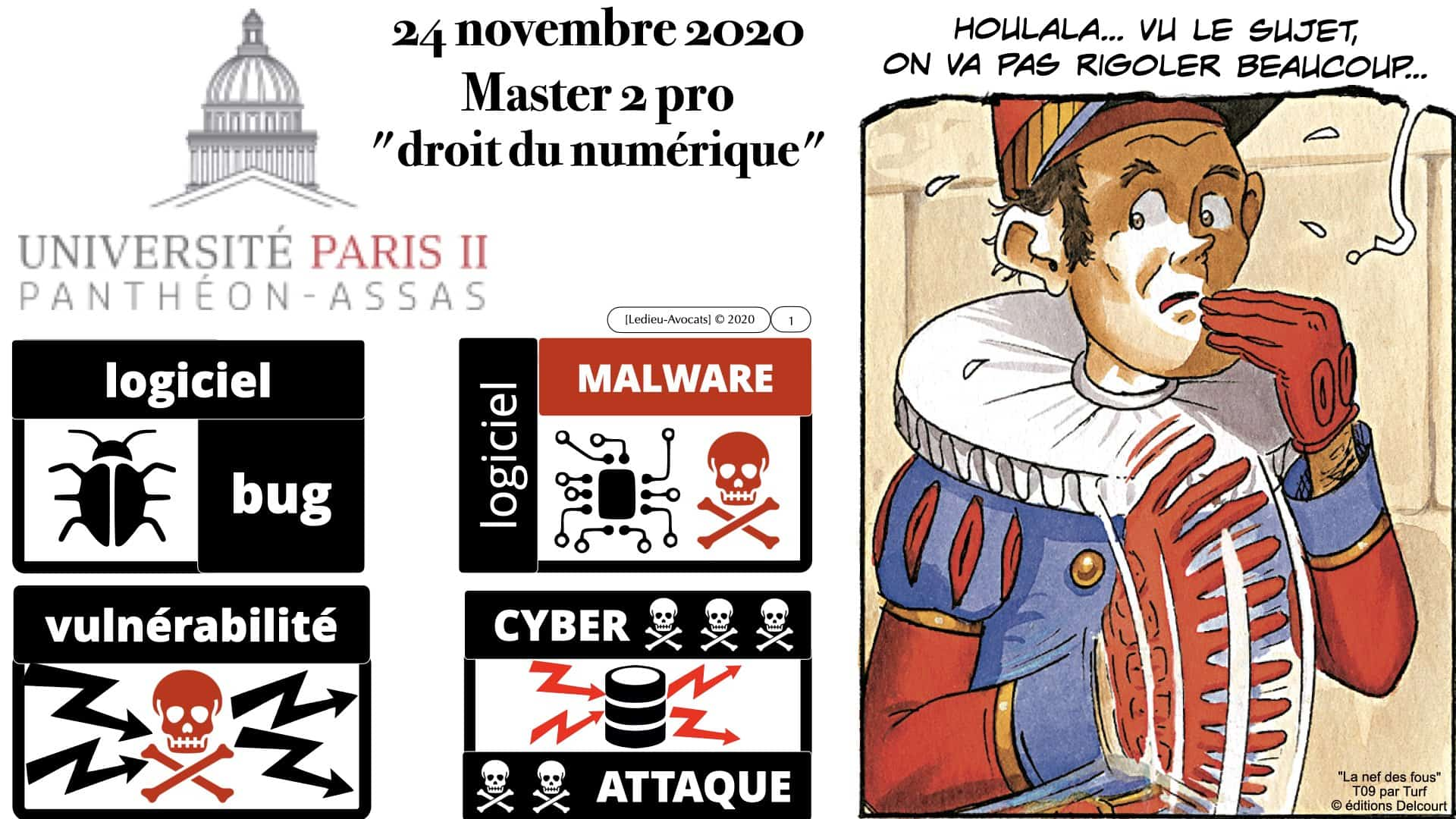 logiciel bug malware vulnérabilité M2 Droit du Numérique 11/2020