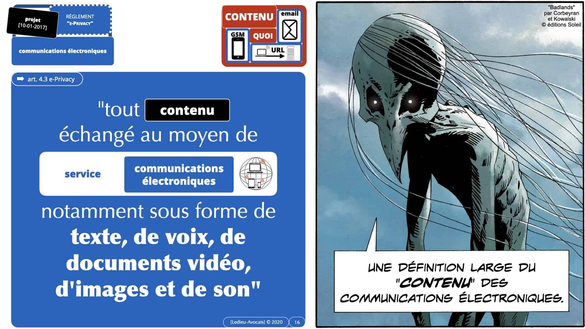 318 données de contenu métadonnées données personnelles ©Ledieu-Avocats la future définition dans le (projet de) Règlement e-Privacy