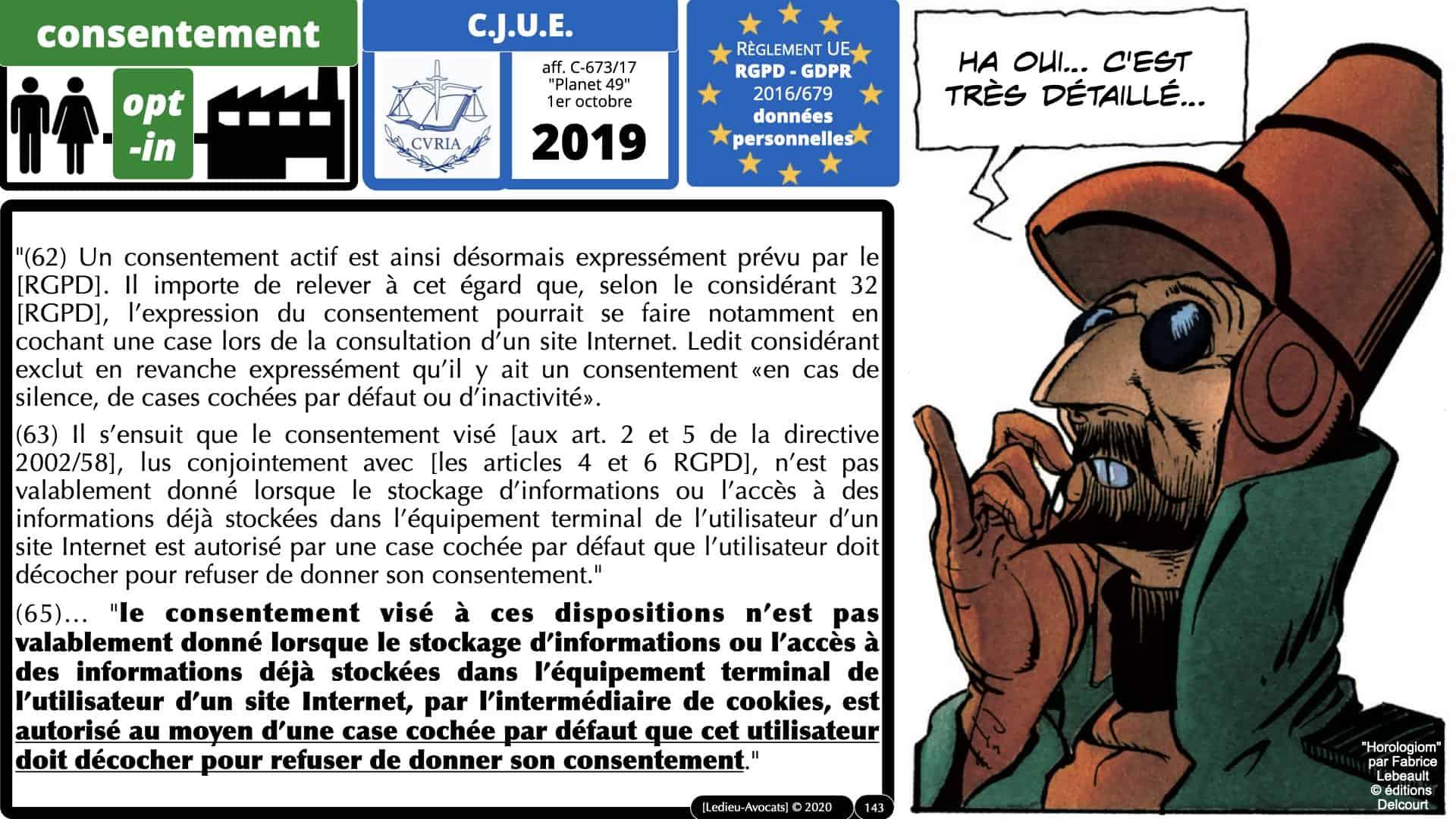 RGPD e-Privacy données personnelles jurisprudence formation Lamy Les Echos 10-02-2021 ©Ledieu-Avocats.143