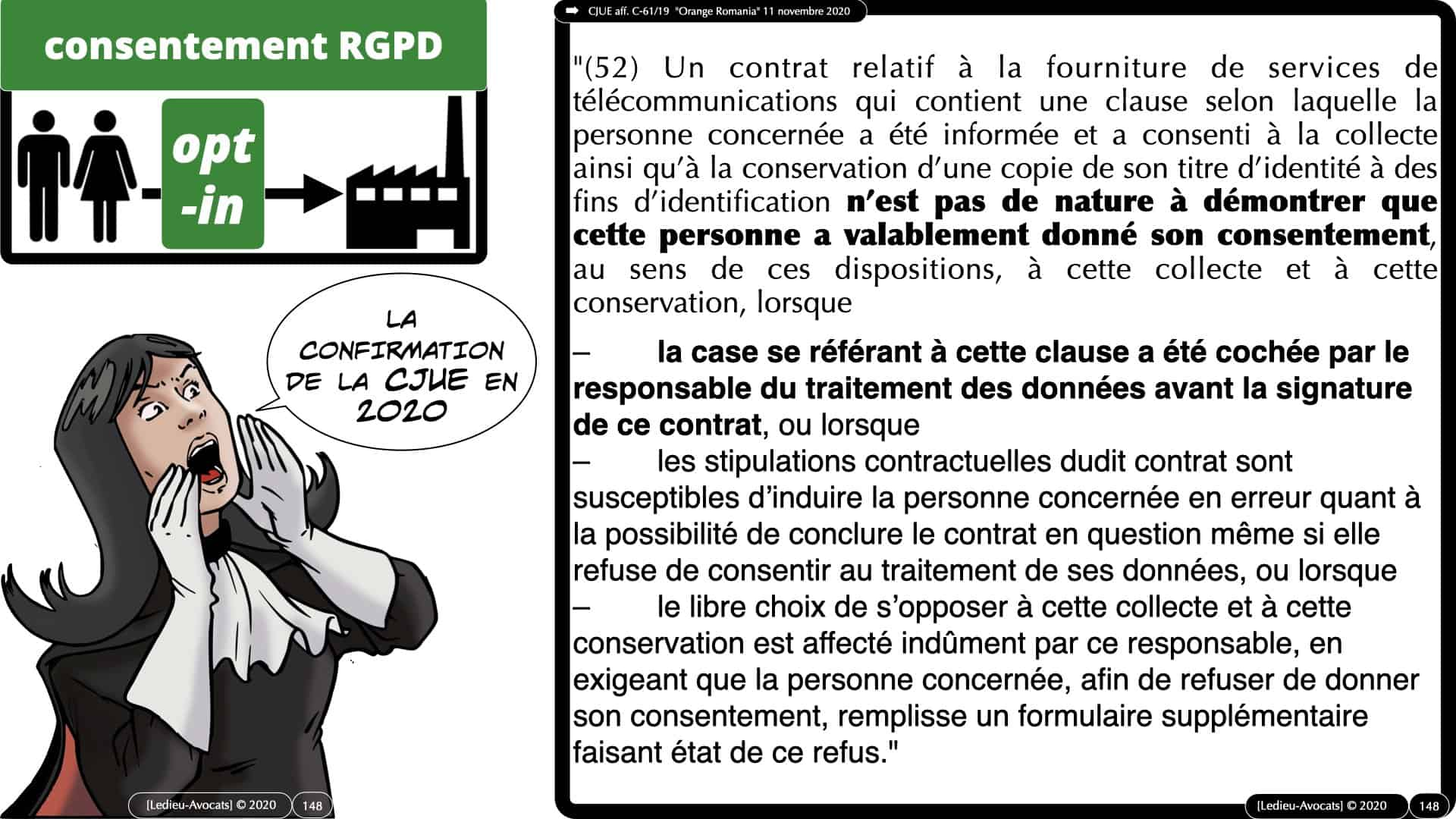 RGPD e-Privacy données personnelles jurisprudence formation Lamy Les Echos 10-02-2021 ©Ledieu-Avocats.148