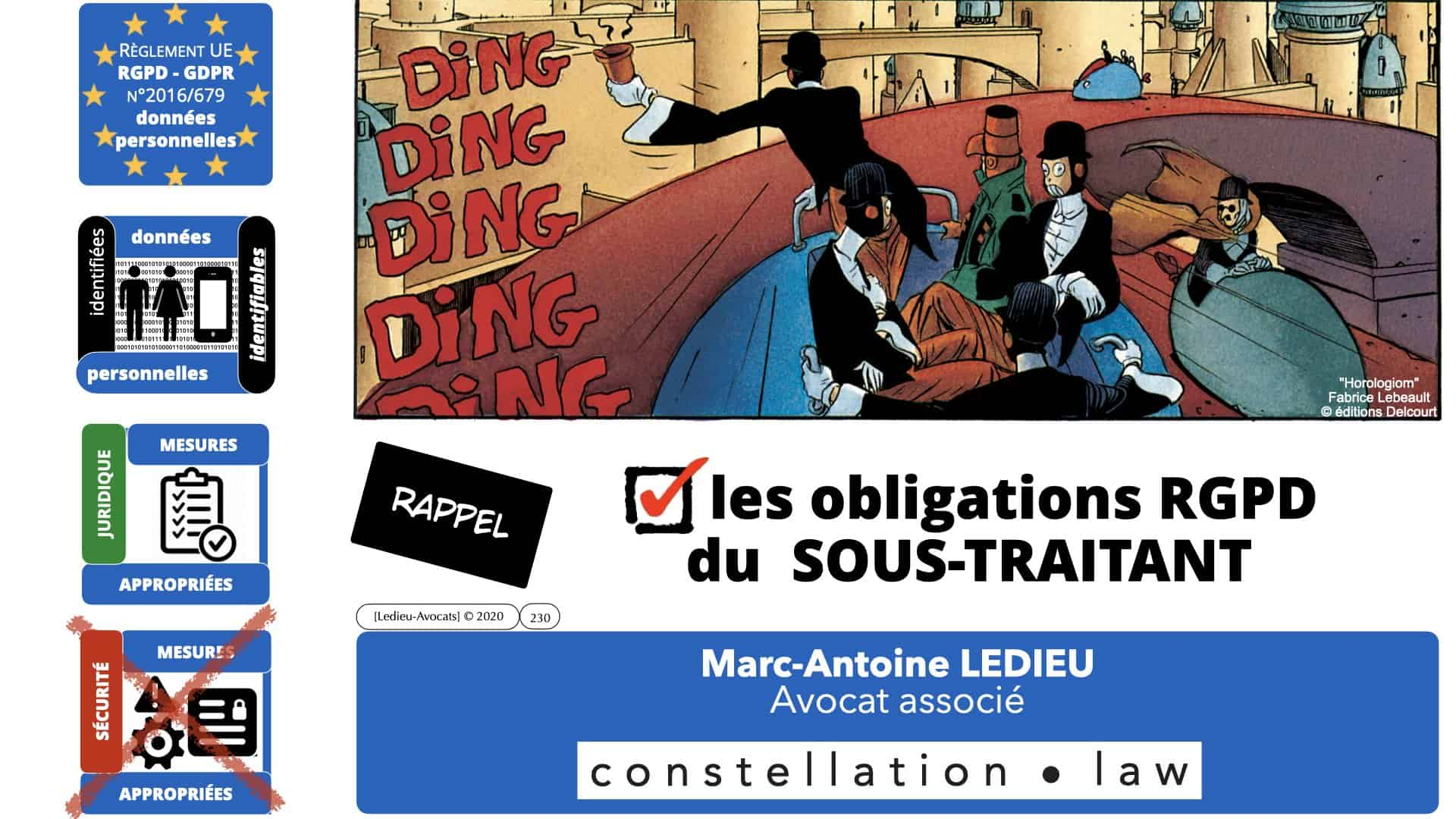 RGPD e-Privacy données personnelles jurisprudence formation Lamy Les Echos 10-02-2021 ©Ledieu-Avocats.230