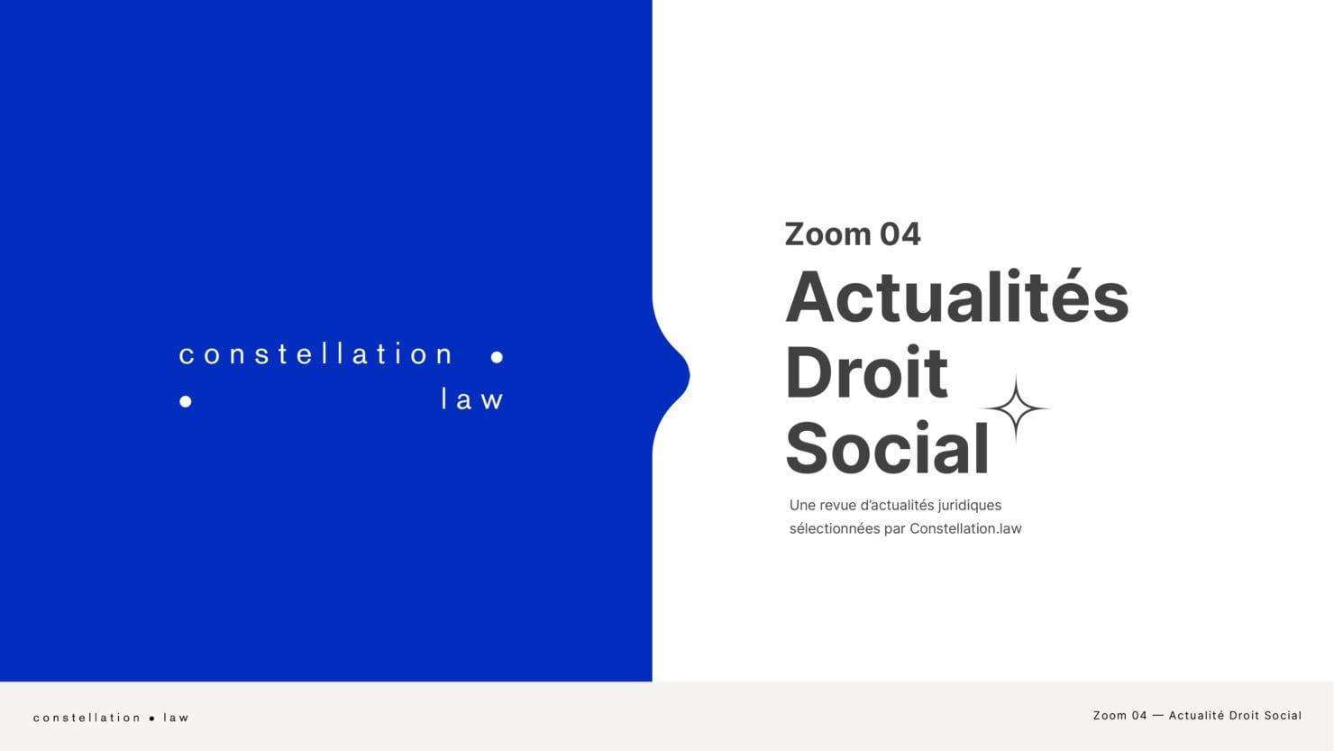 Actualités du Droit Social
