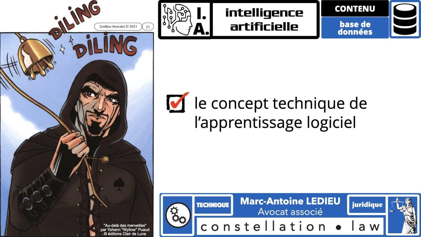335 Intelligence Artificielle 2021 et AI Act [projet de Règlement UE] deep learning machine learning © Ledieu-Avocats 04-06-2021 *16:9*.021