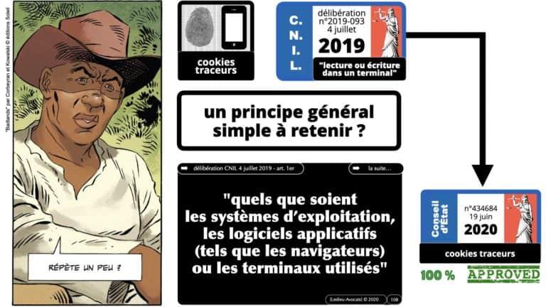 306 RGPD et jurisprudence e-Privacy données-personnelles 16:9 ©Ledieu-Avocats 05-10-2020 formation Les Echos Lamy Conference.108