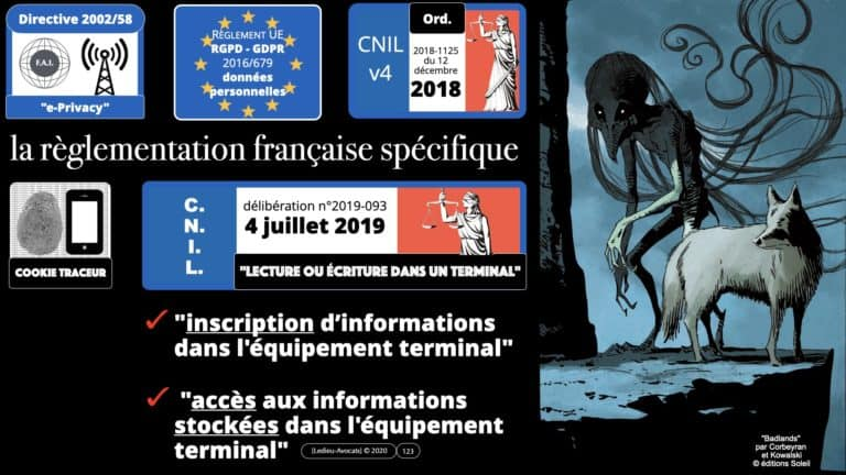 306 RGPD et jurisprudence e-Privacy données-personnelles 16:9 ©Ledieu-Avocats 05-10-2020 formation Les Echos Lamy Conference.123