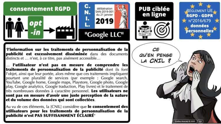 306 RGPD et jurisprudence e-Privacy données-personnelles 16:9 ©Ledieu-Avocats 05-10-2020 formation Les Echos Lamy Conference.127