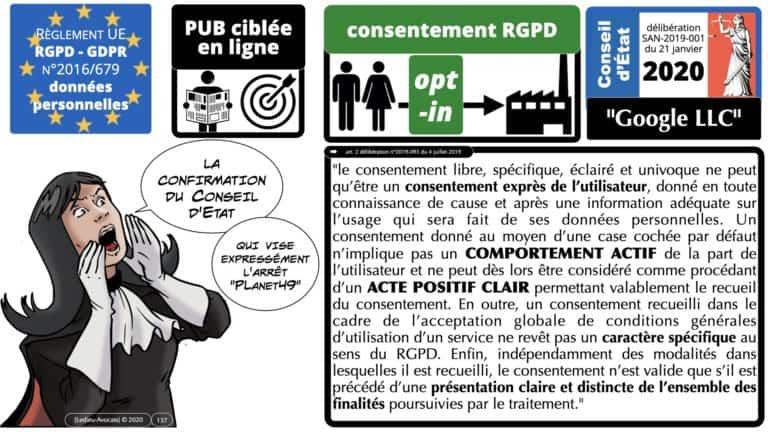 306 RGPD et jurisprudence e-Privacy données-personnelles 16:9 ©Ledieu-Avocats 05-10-2020 formation Les Echos Lamy Conference.137