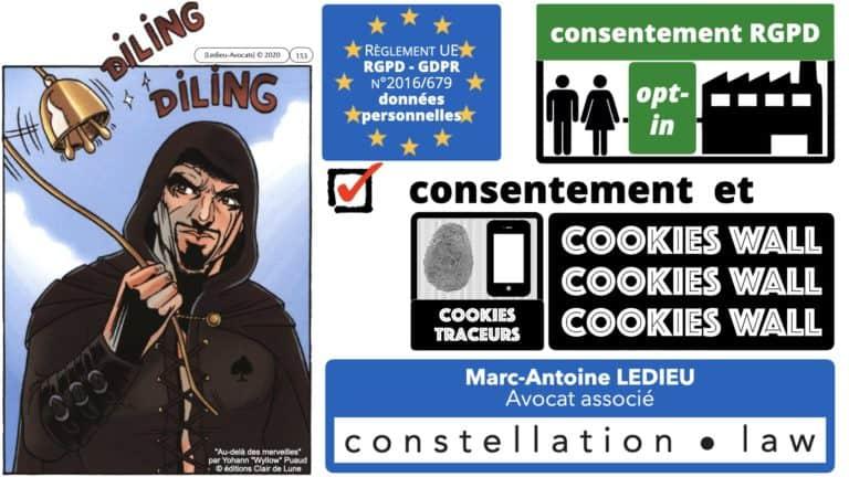 306 RGPD et jurisprudence e-Privacy données-personnelles 16:9 ©Ledieu-Avocats 05-10-2020 formation Les Echos Lamy Conference.153