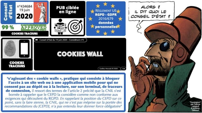 306 RGPD et jurisprudence e-Privacy données-personnelles 16:9 ©Ledieu-Avocats 05-10-2020 formation Les Echos Lamy Conference.158
