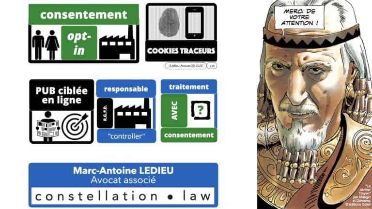 306 RGPD et jurisprudence e-Privacy données-personnelles 16:9 ©Ledieu-Avocats 05-10-2020 formation Les Echos Lamy Conference.339