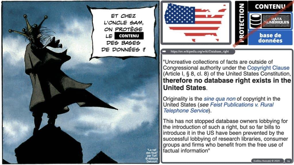 pas de protection du contenu des bases de données aux USA