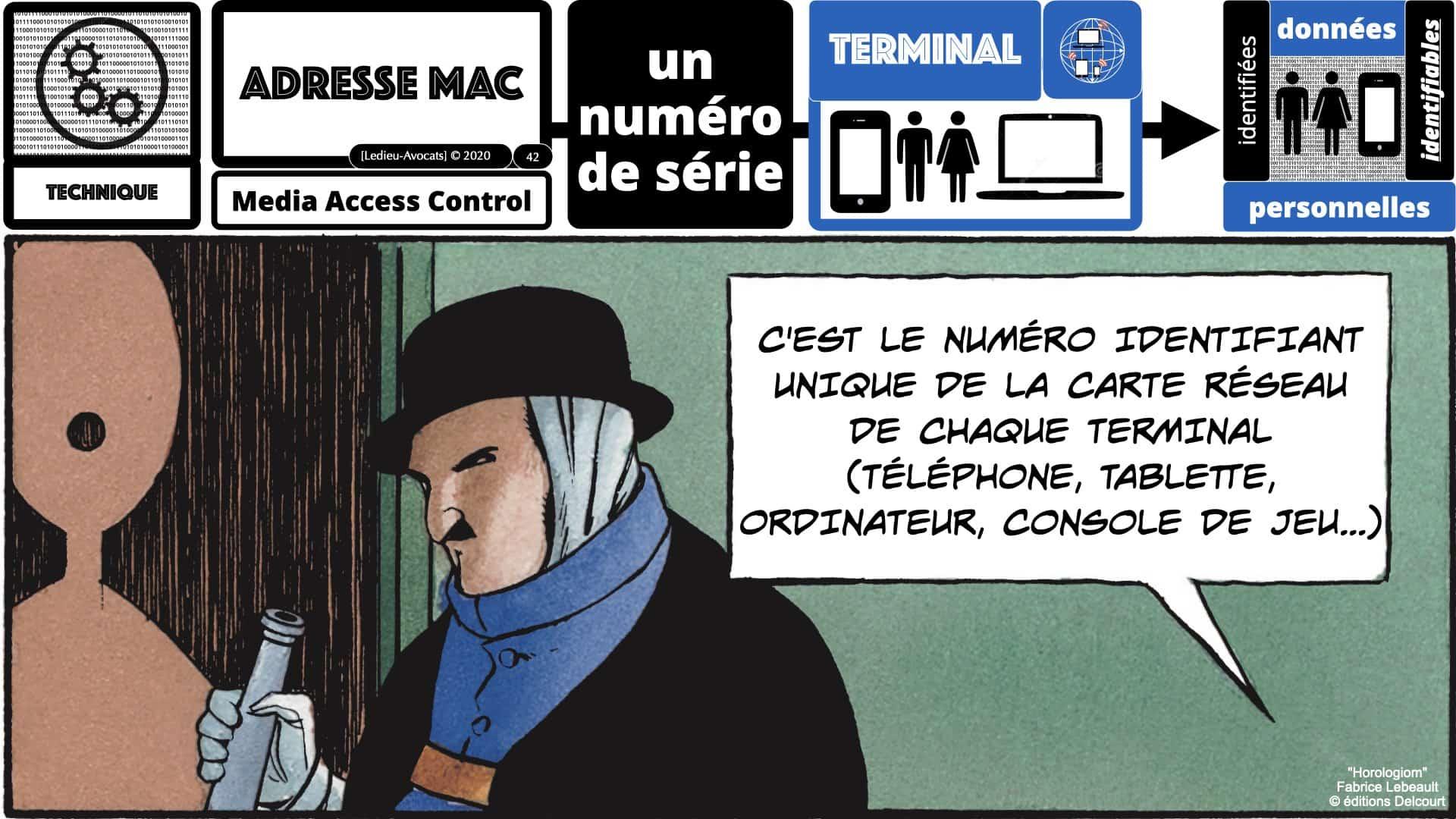 métadonnées données personnelles : identifier un terminal avec son adresse MAC