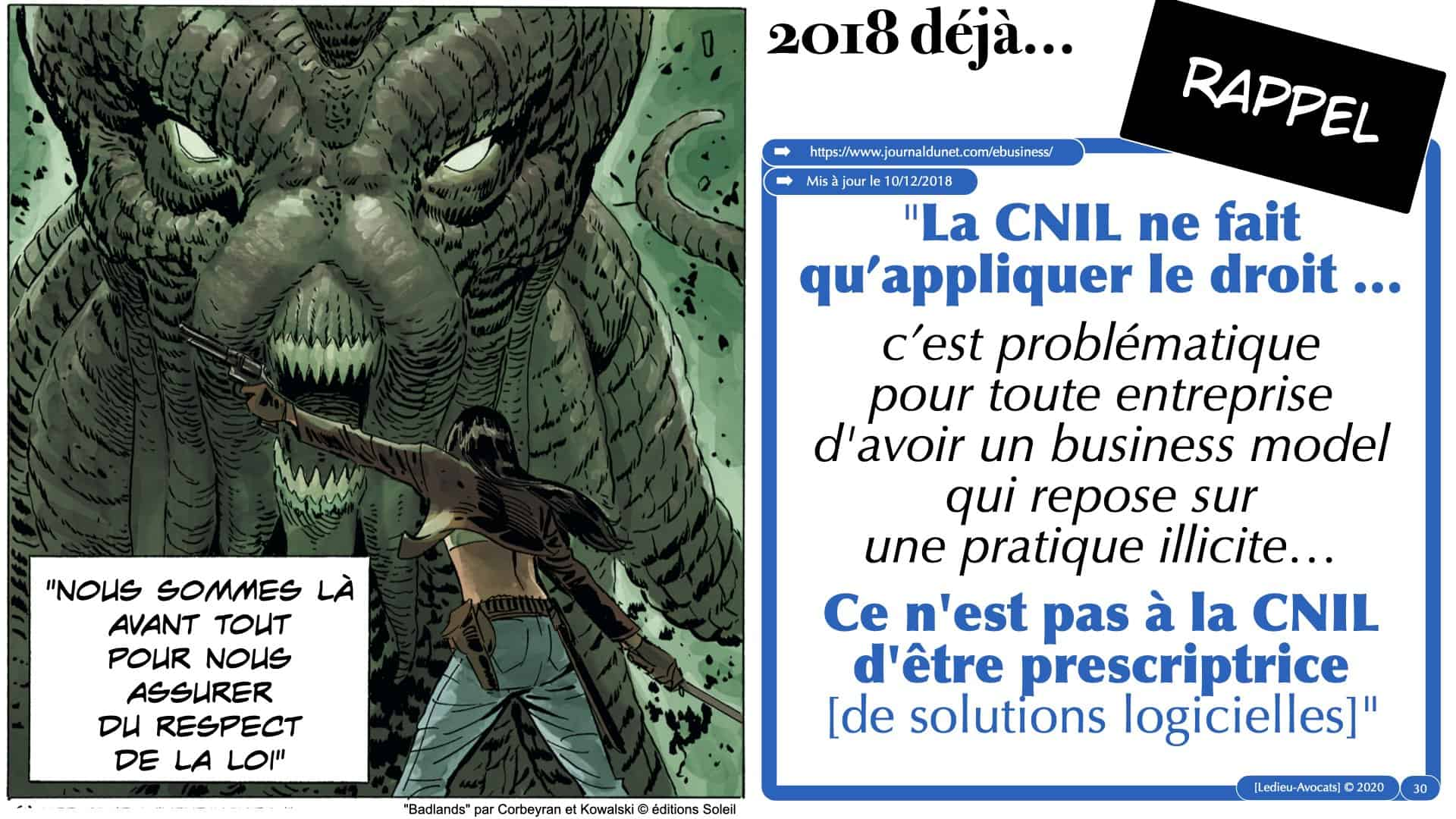 jurisprudence CNIL cookie traceur novembre 2020 décembre 2020 e-privacy RGPD ©Ledieu-Avocats.030