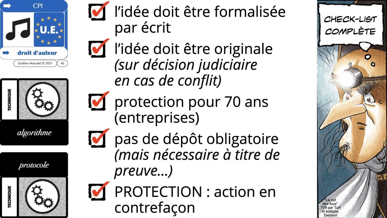 la protection par le droit d'auteur